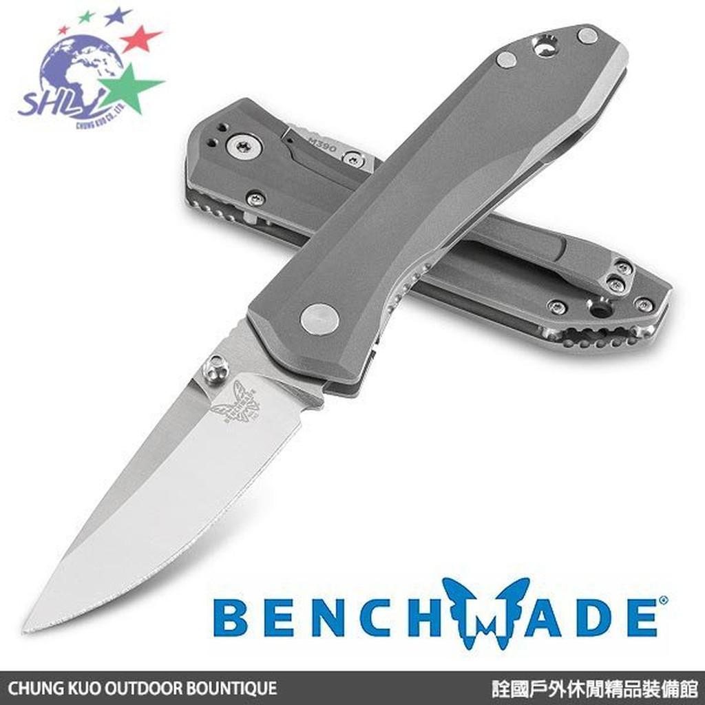 Benchmade 蝴蝶牌 Mini Ti Monolock M390鋼鈦夾折刀(鈦金屬握柄) / 765 【詮國】