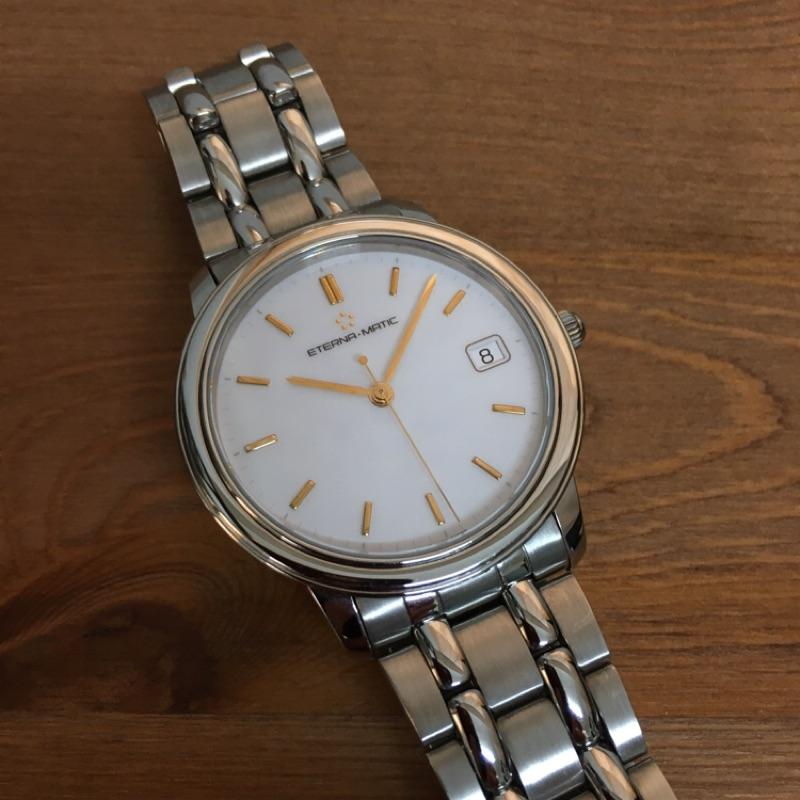 如新陳列品🇨🇭瑞士原裝製造 ETERNA 綺年華超薄鏤空機械錶 (AUTOMATIC)