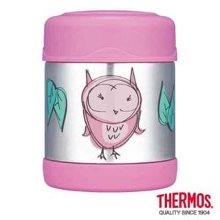 星生活THERMOS膳魔師 雙層不鏽鋼真空保溫食物罐-貓頭鷹篇 F3001OW6 悶燒罐 300ml寶寶副食品