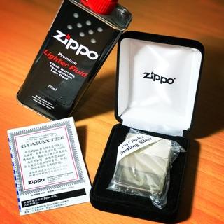 Zippo 銀製防風打火機 全新 贈125ml煤油