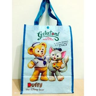 Disney SEA日本東京 海洋迪士尼 限定 達菲熊Duffy 畫家貓 購物袋 手提袋 環保袋 包