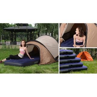 INTEX充氣床墊氣墊床單人雙人家用 午休加厚折疊戶外打汽帳篷沖氣