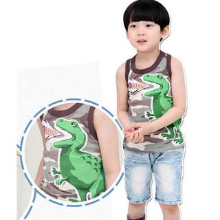 現貨【BabyApple】男童純棉無袖T恤卡通印花背心『韓版』