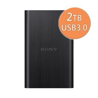 SONY 2TB USB3.0 HD-E2 髮絲紋行動硬碟 黑