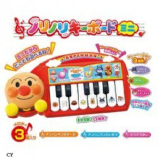 日本 全新正版麵包超人彈鋼琴音樂玩具立體造型電子琴(アンパンマン ノリノリキーボードミニ)