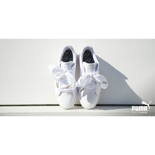 puma basket heart 蝴蝶結鞋 白