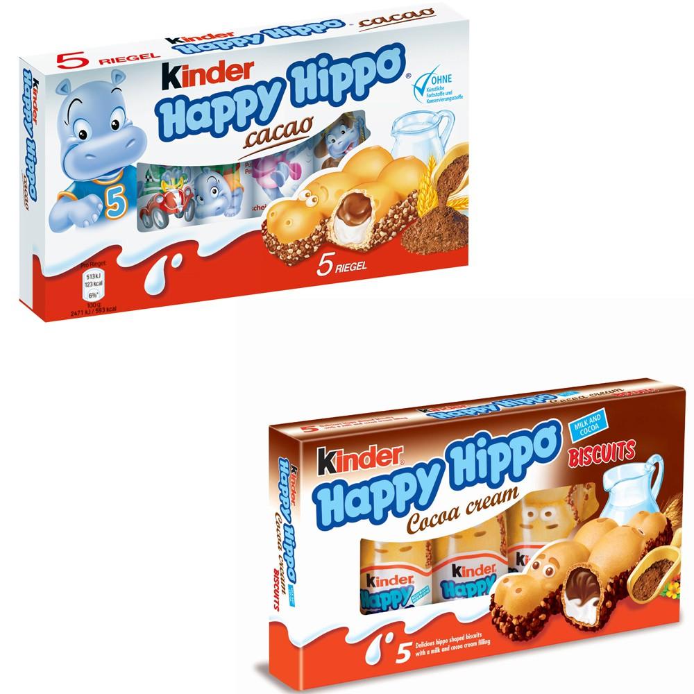 德國健達Kinder happy hippo歐洲限定河馬榛果巧克力