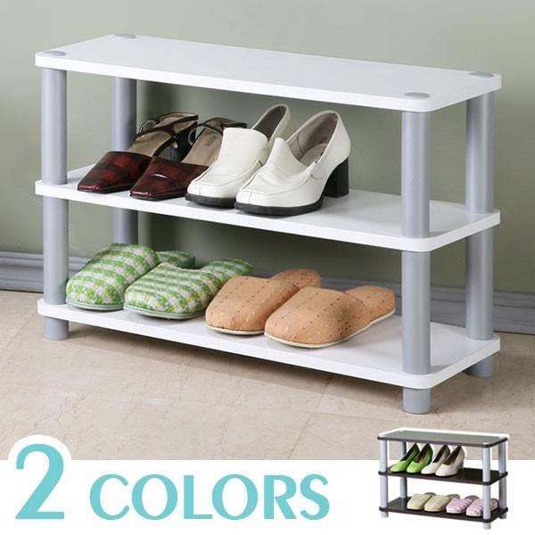 (免運)簡約三層開放式鞋架(二色) 鞋櫃 置物架 收納架【Yostyle家居】