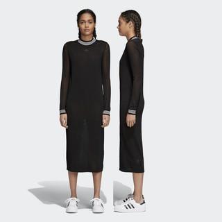 愛迪達 adidas 休閒運動女生長裙 連衣裙 針織 寬鬆透氣 CD6896