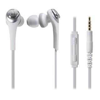 【又昇樂器 . 音響】audio-technica 鐵三角 CKS550i 白色款 耳塞式 耳機 iOS 專用 原廠保固