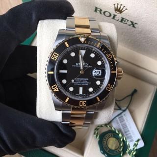 實拍 勞力士 Rolex 蠔式潛航者日曆型機械男錶 腕錶 水鬼 金水鬼116613-LN-97203