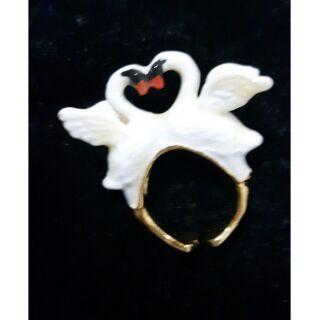 天鵝…!立體陶瓷戒指