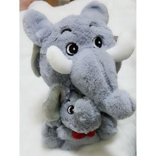 【現貨】【全新】hsintinh_大象絨毛娃娃 大小象絨毛 大象 小象 娃娃 絨毛