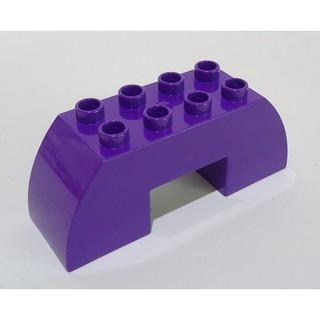 【樂高玩家】正版 樂高 DUPLO 得寶 二手 紫色 拱門 2x4