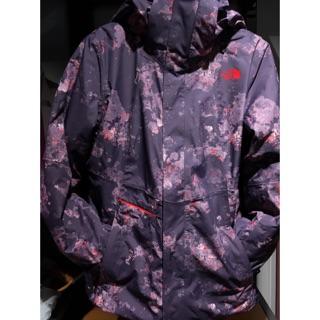 【Surmount】The north face 紫色類迷彩 防水防風 兩件式外套 dryvent 女