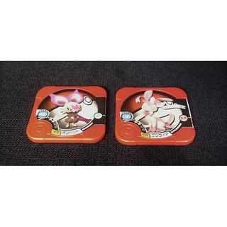 【神奇寶貝】【寶可夢】機台遊戲 卡匣 Pokemon TRETTA 嗡蝠+仙子伊布 二星