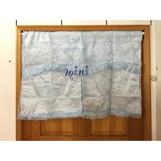 mini超值特價️/蕾絲雙層開門式門簾/短門簾