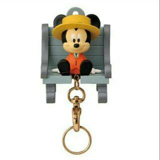 日本迪士尼 磁鐵+掛勾鑰匙圈 鑰匙掛架--米奇/米妮