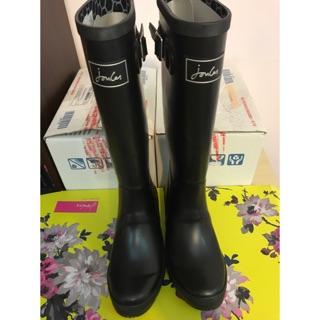Joules雨鞋 雨靴 黑色全新 盒裝 UK05