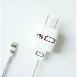 iPhone 7/8 iPhone 7 plus/8 plus 1%電力創意充電頭貼紙豆腐頭貼紙插頭貼紙 [預購]