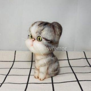 羊毛氈手作-花斑貓