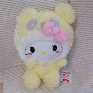 Panda hello kitty 絨毛大玩偶娃娃