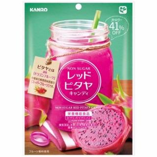 ¥小花貓¥【 預購新品 】日本 Kanro 甘樂無糖 火龍果糖果80g
