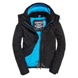預購 極度乾燥superdry 女生  風衣外套厚版 鋪棉 藍色