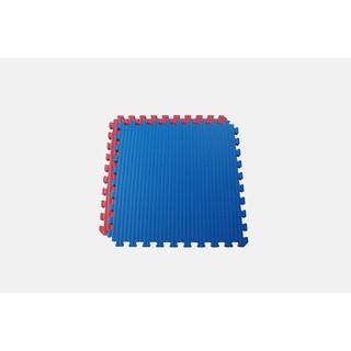 (外銷NG品) 雙色草蓆紋-藍&紅 巧拼 / 運動地墊 60x60x2.5cm