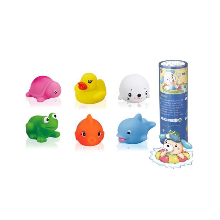 【新品上市】寶寶洗澎澎玩具~讓洗澡變超有趣!小牛津 一組6個洗澡玩具