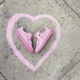 Puma緞帶鞋 粉紅