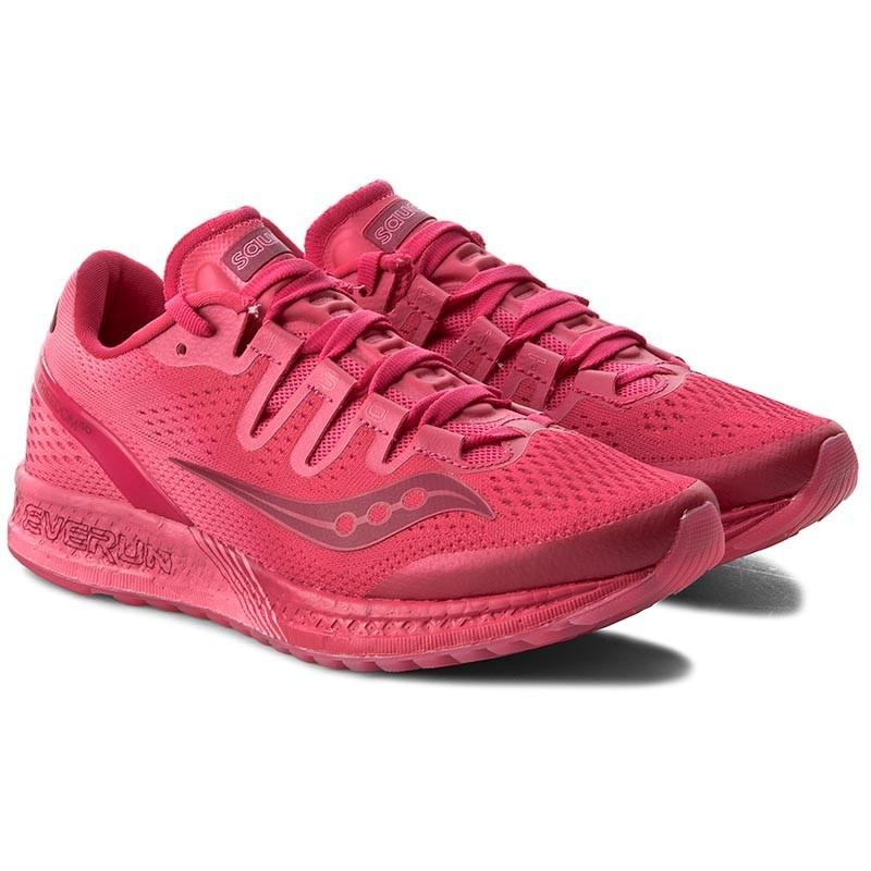 【Saucony】頂級款 避震型 女慢跑鞋 Freedom Iso系列