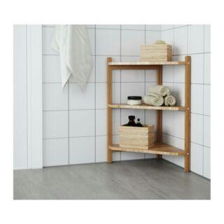 IKEA RÅGRUND 轉角層架 三角架三層架轉角架毛巾架置物架收納架竹製34x60公分善用洗臉盆下方空間收納物品