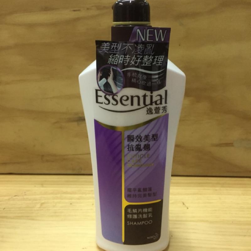 ESSENTIAL 逸萱秀瞬效美型抗亂翹及瞬效水潤易潔淨洗髮乳700ML