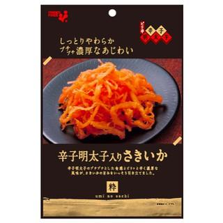 (日本代購食)辣味明太子魷魚絲 海膽醬油魷魚絲