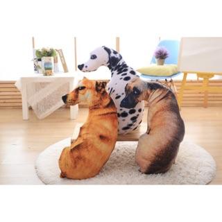 特價 厭世狗 仿真 3D 狗 抱枕 趣味 可愛 單身狗 無奈狗 憂鬱狗
