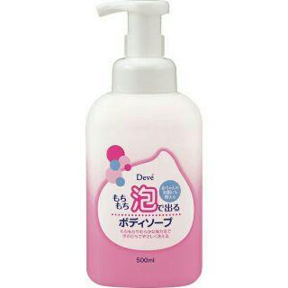 日本製     熊野Deve   綿密泡泡沐浴乳500ML