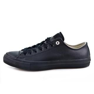 [ CONVERSE CHUCK TAYLOR ALL STAR II 皮革 低筒 153556c 男女鞋 全黑