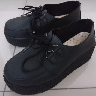Knight&Kanon 二手 黑色鬆高鞋