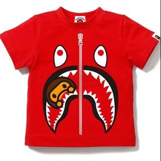 A BATHING APE 鯊魚 milo TEE 童裝 BAPE 2017新款 保證正品 紅 黑 灰 黃