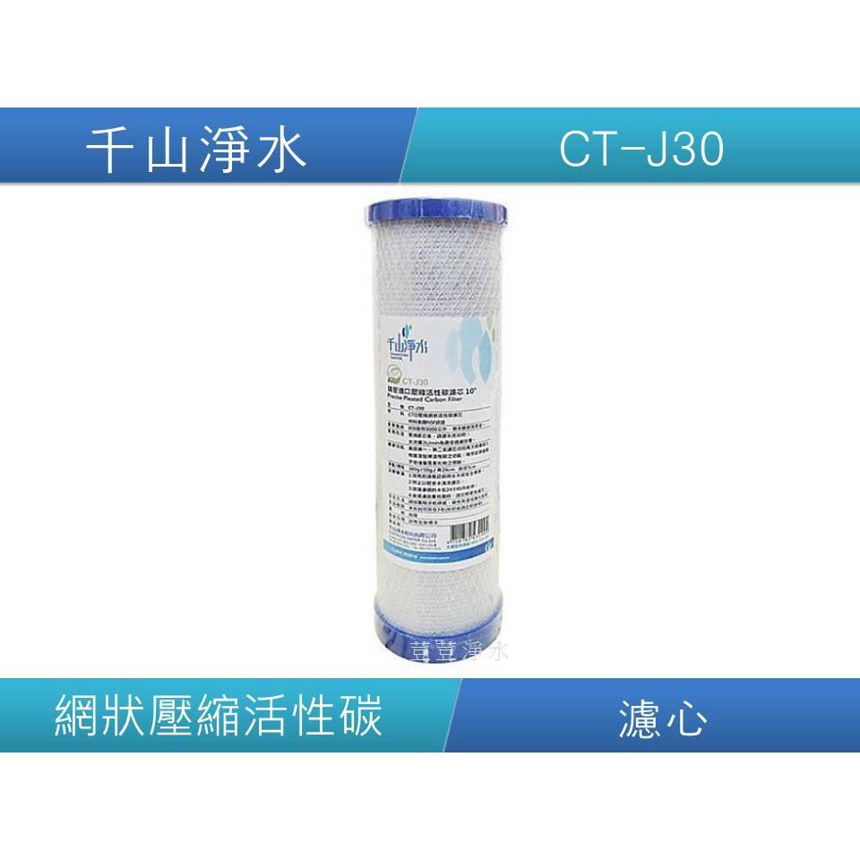 千山淨水 CT-J30 精密進口壓縮活性碳濾心 CT-J3  CT-J30 荳荳淨水