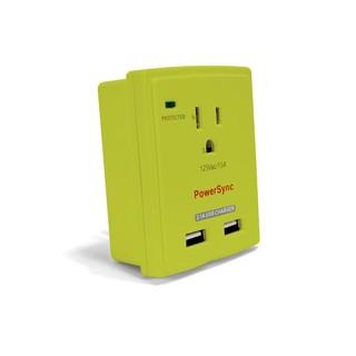 群加 PowerSync AC+2Port USB 2.1A 防雷擊抗突波 單孔壁插 PWS-EXU2018