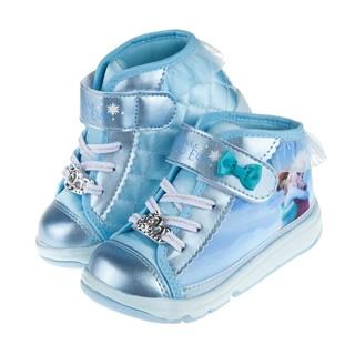 ★51+童鞋 正版現貨★Moonstar日本冰雪奇緣藍色中筒兒童機能運動鞋(15~19公分)