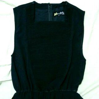 黑色古著無袖洋裝