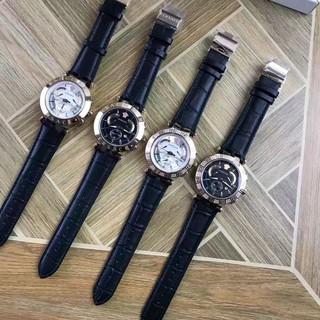 『獨特實拍』提供細圖-原廠正品凡賽斯 versace小醜系列男女同款 六針計時碼表男士手錶 (可換錶帶)