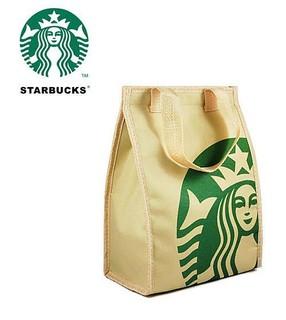 ☆Lime cat☆美國 Starbucks 星巴克 保溫袋 保冷袋 手提袋 便當袋 手提包8314