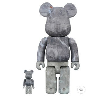 MEDICOM TOY BE@RBRICK DSPTCH 100% & 400% 灰 迷彩 公仔 日本代購