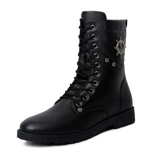 [小布丁]馬丁靴軍靴短靴冬季男士韓版潮流皮靴沙漠馬靴潮男工裝高幫男靴子