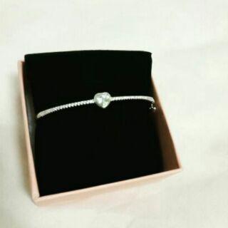 正生銀飾愛心手環
