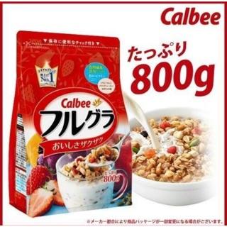 [預購-預計6月中到貨]calbee穀麥片800G大包裝